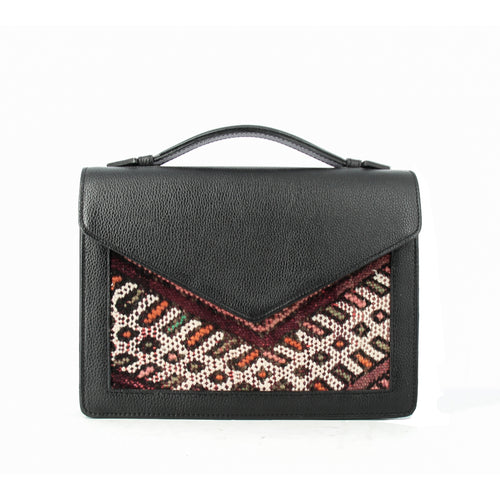 ALOUANE handbag with strap Black