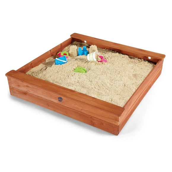 Plum Square Wooden Sand Pit:Plum:Swing Happy