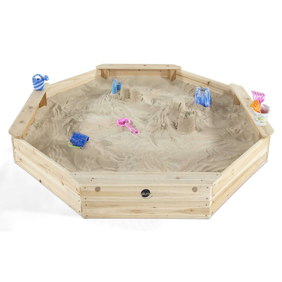 Plum Giant Octagonal Sand Pit (Natural):Plum:Swing Happy