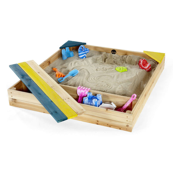 Plum Store-It Wooden Sand Pit (Natural):Plum:Swing Happy