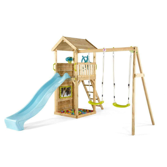 Plum Lookout Tower Colour Pop Wooden Play Centre:Plum:Swing Happy