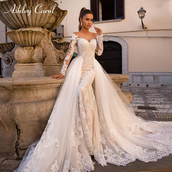 Sweetheart 2 in 1 Long Sleeve Mermaid Wedding Dress by Pick a Product