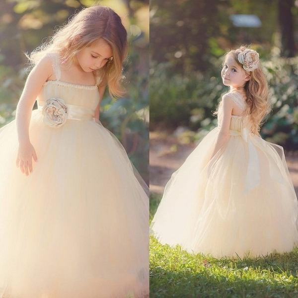 Fabulous Champagne Ball Gown Flower Girl Dress by Pick a Product