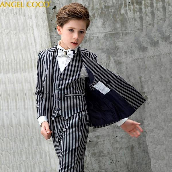 025c5e99b Black White Stripes Boys Suit for Weddings by Pick a Product