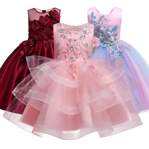 Beaded Embroidery Flower Girls Dresses for Wedding by Pick a Product