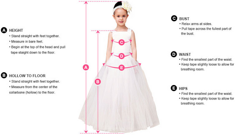 How to Measure Girls Dress by PivkAProduct