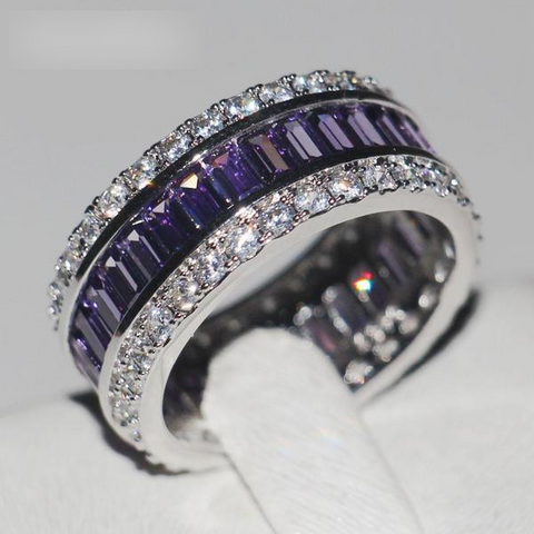 Women's 15ct 5A Purple Zircon Silver Wedding Band by Pick a Product
