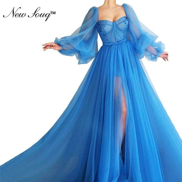 Robe De Soiree Blue Tulle Party Dress 2019 by Pick a Product