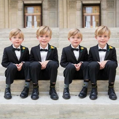 Two Piece Boys Formal Black Suits (Jacket+Pant) by PickAProduct