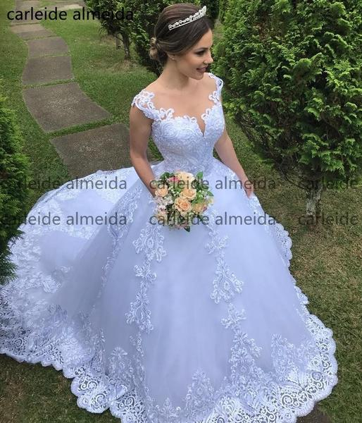 bc83bb2852a Vestidos O-Neck Ball Gown Princess Wedding Dress by Pick a Product