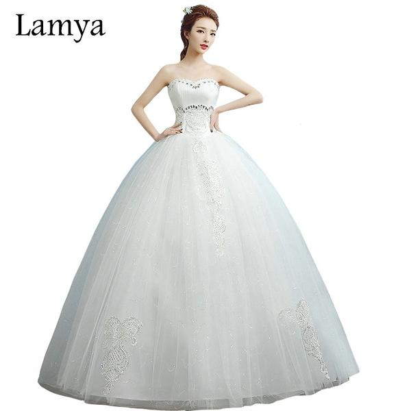 Sweetheart Plus Size Cheap Ball Gown Wedding Dress by Pick a Product