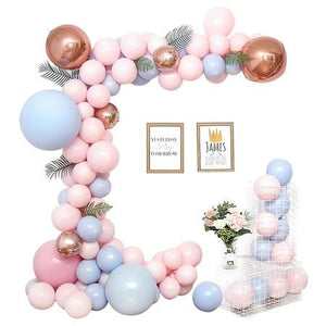 108PCS Macaron Pink Balloon Garland Kit - little-darling-fashion-online
