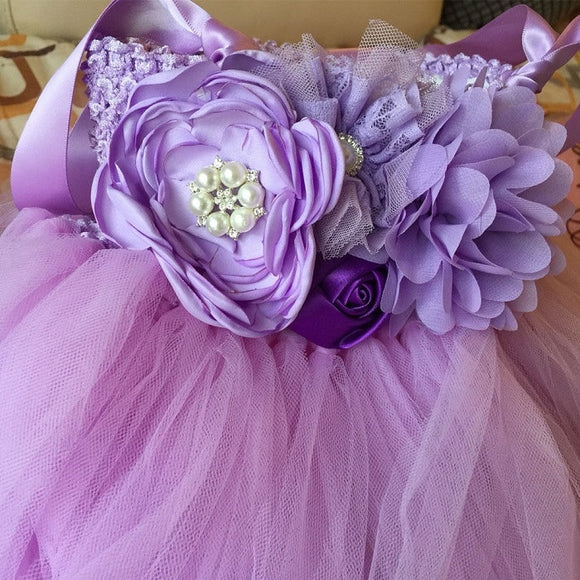 Ankle-Length Flower Girl Tutu Party/ Pageant Dresses - little-darling-fashion-online