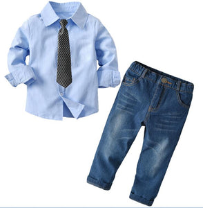 Children's 3 Piece Suit (Plaid Vest+Shirt+Trousers) - little-darling-fashion-online