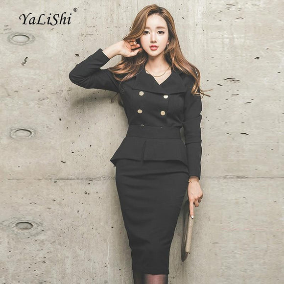 2 Piece Set Plus Size Autumn Elegant Suit