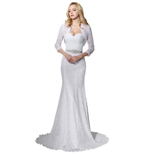 2019 White Lace Mermaid Wedding Dress - little-darling-fashion-online