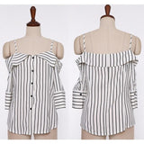 Strap Striped Blouse by Pick a Product
