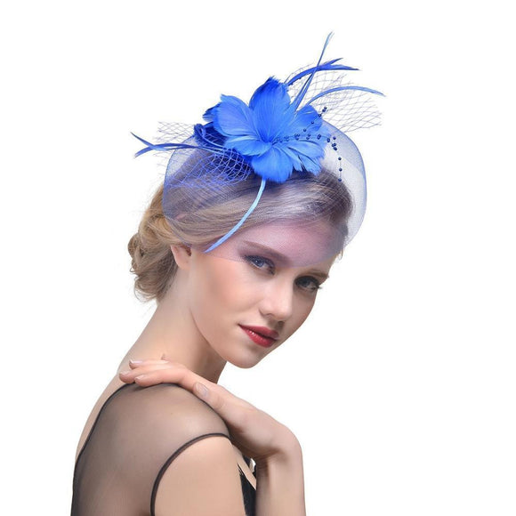2018 Hot Feather Fascinator - little-darling-fashion-online