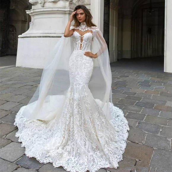 2018 Mermaid/Trumpet Lace Wedding Dresses - little-darling-fashion-online