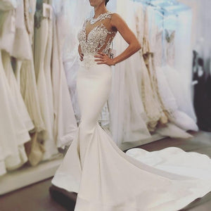 2018 Sexy High Quality Lace Mermaid Wedding Dress by Pick a Product