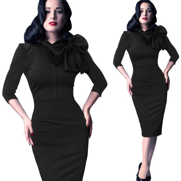2018 New Womens Elegant Vintage Pinup Retro Dress - little-darling-fashion-online