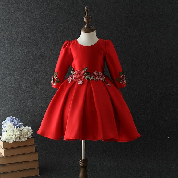 Autumn/Winter Three Quarter Sleeve Flower Girl Dress by Pick a Product