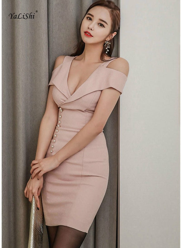 2018 Solid Sexy Office Bodycon Bandage Dress by Pick a Product