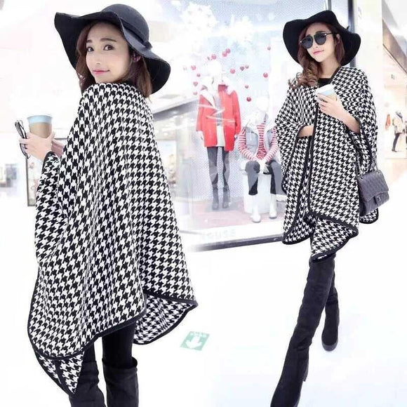 2018 Streamlined Blanket Coat Cashmere Multipurpose Splicing Cape Women's Shawl Star Show Coat Oversized Poncho Scarf Wraps JQ26