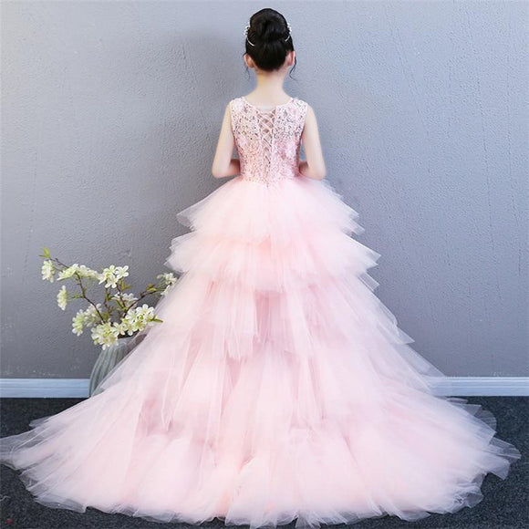 Luxury Girls Pink/Red/Blue Wedding Party Dress by Pick a Product