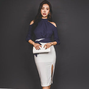 2018 Summer Short T-Shirt and Midi Pencil Skirt Sets - little-darling-fashion-online
