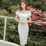 Summer Ruffles Slash Neck Party Dress (S-XL) - little-darling-fashion-online