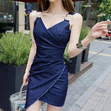 Summer Sleeveless Vestidos V-Neck Party Dress (S-L) - little-darling-fashion-online