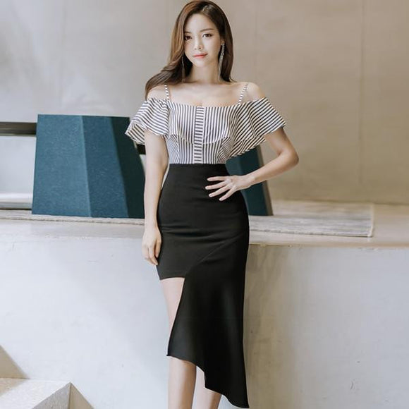 Summer Strap Ruffles Sleeve Party Dress (S-L) - little-darling-fashion-online