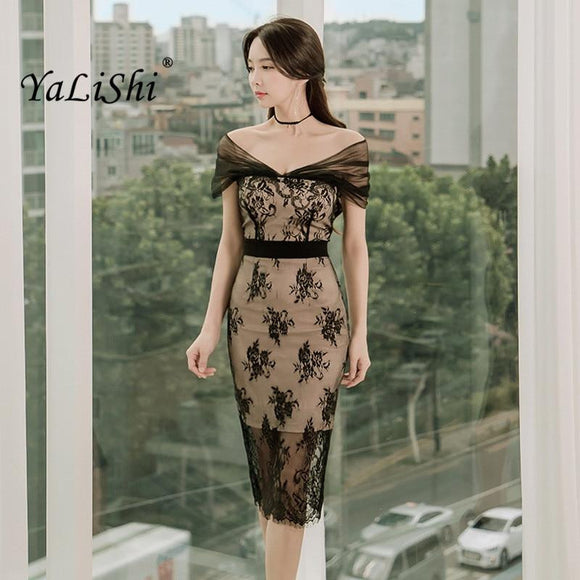 2018 Summer Women Black Lace Dresses