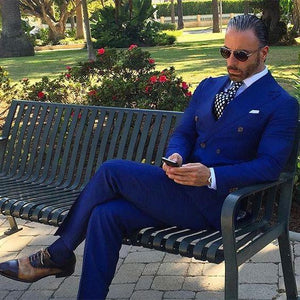 Terno Royal Blue Mens Suit (Jacket+Pants) by Pick a Product