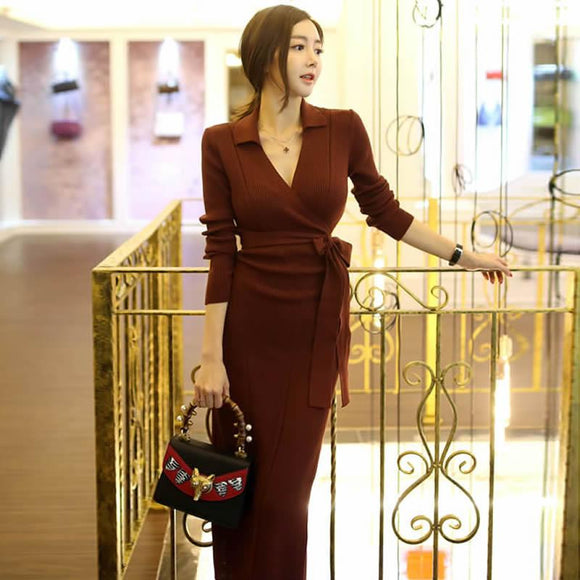 2018 Winter Autumn Slim Knitted Dress by Pick a Product