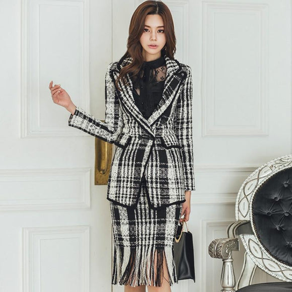 2018 Winter Two Piece Plaid Suit Sets by Pick a Product