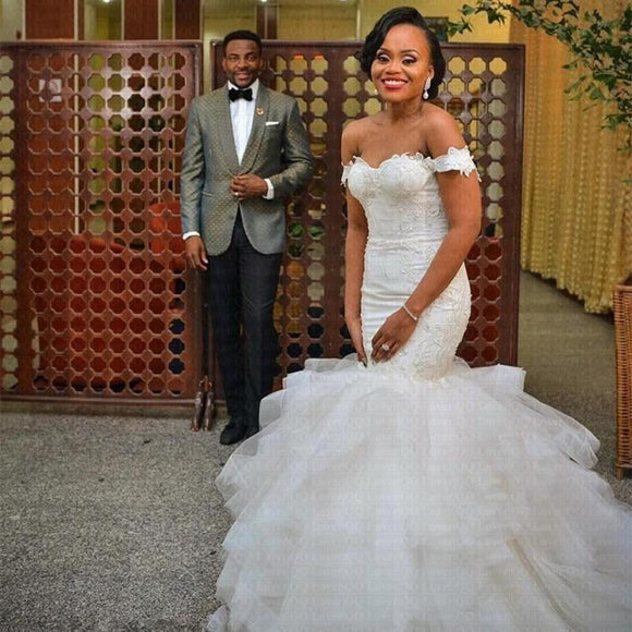 2019 African Nigeria Mermaid Wedding Dresses - little-darling-fashion-online