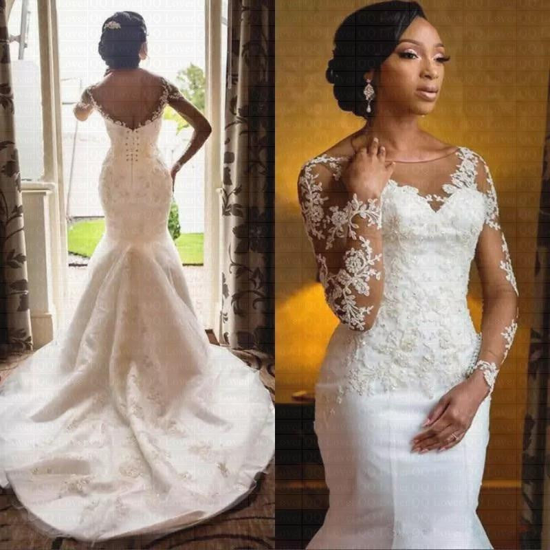 2019 African Sheer Lace Wedding Dress By Pick A Product Pickaproduct