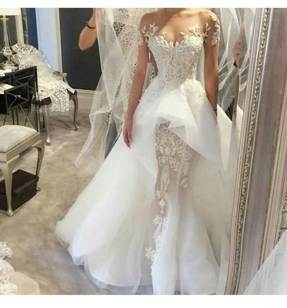 2019 Elegant Lace Wedding Dresses