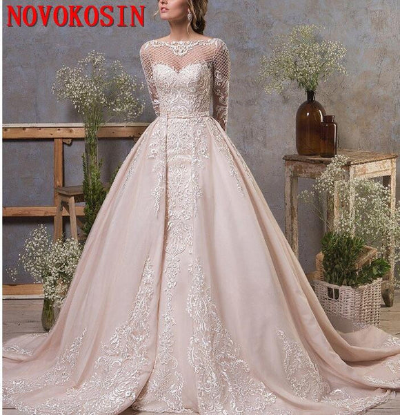 Gorgeous Wedding Dresses With Detachable Train