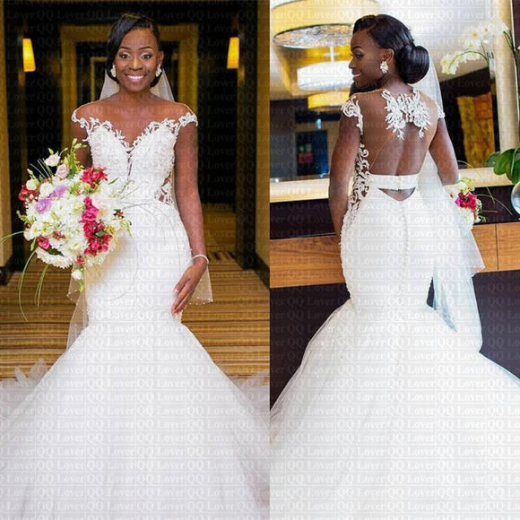 2019 New African Appliques Mermaid Wedding Dress by Pick a Product