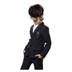 2Pcs Kids boys Stripe White Black Formal Suits by Pick a Product
