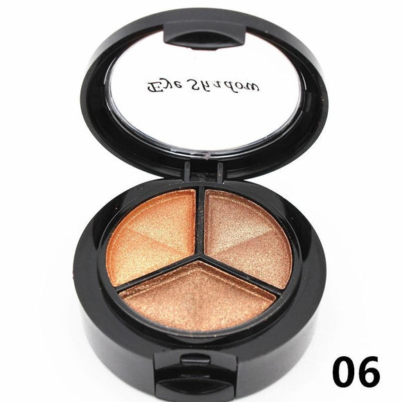 3 Colors Eyeshadow Palette with Mirror and Brush - little-darling-fashion-online