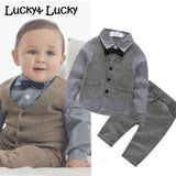 (4pcs/set) wedding baby clothing set - little-darling-fashion-online