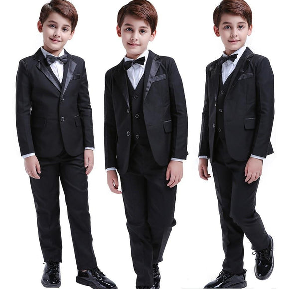 5 Pcs Boys Formal Suit for Wedding - little-darling-fashion-online