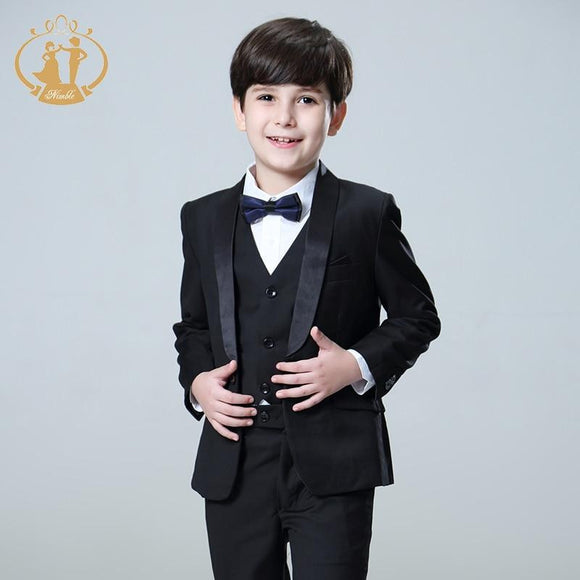 5Pcs/Set Boys Suits for Weddings Kids Prom Suits - little-darling-fashion-online