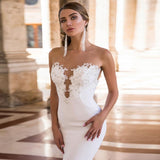 ADLN Cheap Backless Mermaid Wedding Dresses