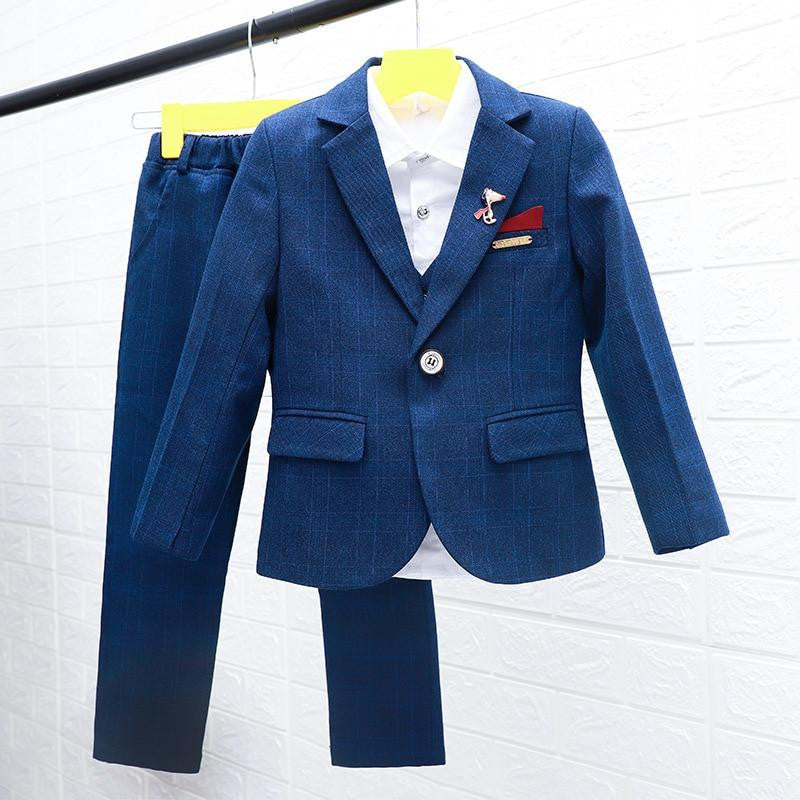 616fbcb85a31 ActhInK New Boys Winter Suit 5Pcs Kids Wedding Blazer by Pick a Product