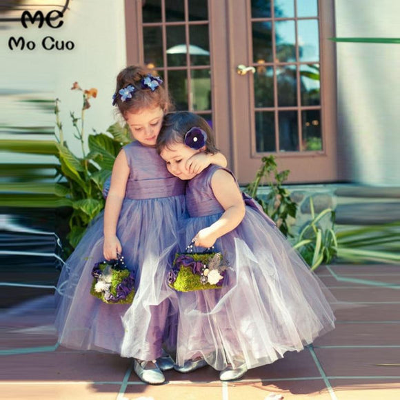 Baby 2019 Purple Tulle Pretty Flower Girl Dress by Pick a Product